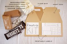 DIY Smores kit...including a toasting fork you can use on any stick..even a wooden spoon handle!