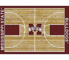 My Team by Milliken NCAA College Home Court Mississippi State Novelty Rug Rug Size: Rectangle Bulldogs Basketball, Cyo Basketball, Basketball Games For Kids, Basketball Birthday Parties, Best Basketball Shoes, Basketball Camps, Basketball Shooting, Home Basketball Court, Lifetime Basketball Hoop
