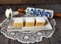 Prajitura de foi cu miere sau Albinita Romanian Desserts, Rolling Pin, Butter Dish, Rolls, Tray, Gem, Sweets, Dishes, Food