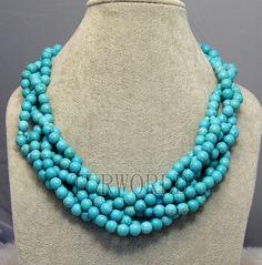 collier de perles de turquoise par Turquoiseworld2012, $25.00/ Etsy