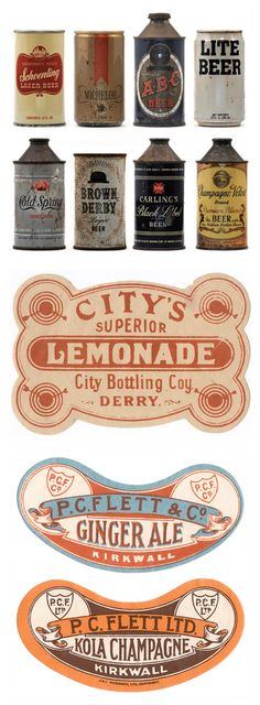 Vintage packaging labels
