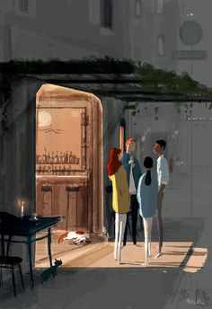 Pascal Campion「Late night topics」 -So. -It was pretty good -That Pascal Campion, Color Script, Dibujos Cute, Illustrations And Posters, Deviantart, American Artists, Illustrators, Modern Art, Concept Art