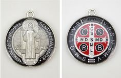 Hey, I found this really awesome Etsy listing at https://www.etsy.com/listing/186505447/4-pcs-red-st-benedict-saint-medals-st