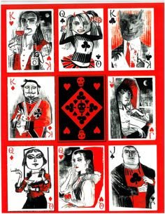 John Littleboy ~ Bag of Bones Playing Cards ~ artiphany Cute Wallpaper Backgrounds, Cute Wallpapers, Game Card Design, Cool Playing Cards, Queen Of Spades, Tattoo Illustration, Heart Frame, Deck Of Cards, Macabre