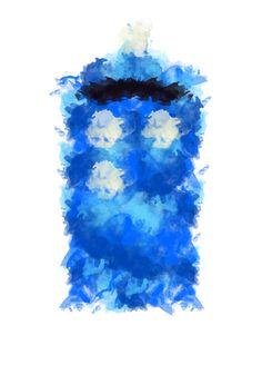 """Tardis Polypainting"" by idratherbeinthetardis ❤ liked on Polyvore featuring art"