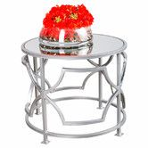 Leon Side Table in Silver