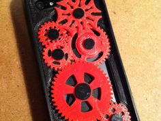 iPhone 5 Gear Case with Geneva Mechanism by BrandonW6 - Thingiverse