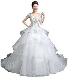 Cyy Women A Line Cathedral Train Organza Wedding Dress Br... https://www.amazon.com/dp/B01A24SSC0/ref=cm_sw_r_pi_dp_x_9RzUyb67R63X4