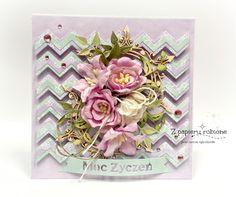 kartka urodzinowa Shabby Chic Cards, Decorative Boxes, Diy, Bricolage, Do It Yourself, Homemade, Decorative Storage Boxes, Diys, Crafting