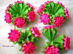 Кусудама Мастер-класс 8 марта Валентинов день День рождения Новый год Оригами Кусудама Примула МК Бумага фото 50