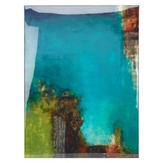 Inspired by canyons of Colorado, love shades of blue and green