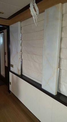 White onyx columns panel...