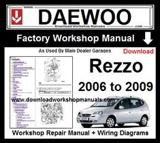 Chevrolet Aveo Manual & Wiring Diagrams 2006 to