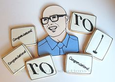 Custom Portrait and Logo Cookies Rolling Pin Productions