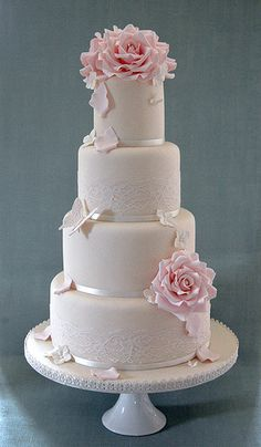 wedding cakes lace Estelle by Sweet Tiers Cakes Amazing Wedding Cakes, White Wedding Cakes, Elegant Wedding Cakes, Wedding Cake Designs, Lace Wedding, Elegant Cakes, Wedding Cupcakes, Purple Wedding, Floral Wedding