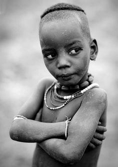 Hamar tribe kid - Omo valley Ethiopia by Eric Lafforgue