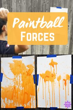 Try this quick and easy paintball science experiment with your kids! See what happens to the paintballs when each member of the family throws one.