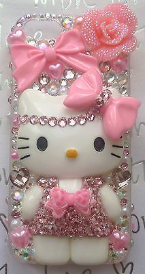 KITTY CASE FOR I PHONE 4 4S 5 5S 5C PINK HARD CASE FITTED CASES/SKINS LOLITA BOW
