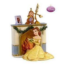 amazoncom a warm and cozy christmas disneys beauty and the beast ornament - Disney Beauty And The Beast Christmas Decorations