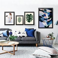 Wall Quotes Living Room Color Schemes 49 Ideas For 2019 Blue Living Room Decor, Living Room White, Living Room Colors, Living Room Paint, Living Room Carpet, Living Room Sofa, Rugs In Living Room, Living Room Designs, Living Room Ideas Dark Grey Sofa