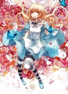 Beautiful Alice in wonderland. Anime version