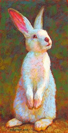 """Daily Paintworks - """"Monty"""" - Original Fine Art for Sale - © Rita Kirkman Bunny Painting, Painting & Drawing, Art And Illustration, Animal Paintings, Animal Drawings, Rabbit Art, Bunny Art, Fine Art Auctions, Pastel Art"""
