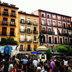 Cascorro Square on Sunday morning