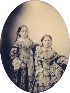 Princess Isabel (right) and Princess Leopoldina (left), from 1855..