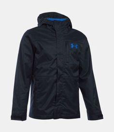 Under Armour Boys Wildwood 3 In 1 Storm Jacket Black Blue Size 5 MSRP $119.99  | eBay