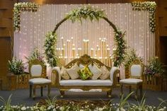 Wedding Stage is the heart of the entire ceremony. So make your wedding stage more charming with this gorgeous wedding decoration Reception Stage Decor, Wedding Backdrop Design, Desi Wedding Decor, Wedding Stage Design, Wedding Hall Decorations, Luxury Wedding Decor, Wedding Reception Backdrop, Backdrop Decorations, Wedding Mandap