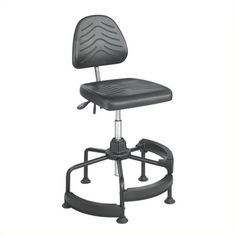 Safco Task Master Deluxe Industrial Drafting Chair/Drafting Chair (€360) ❤ liked on Polyvore featuring home, furniture, chairs, office chairs, black, adjustable drafting chairs, black desk chair, adjustable office chair, task chair and industrial chairs
