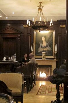 This is the Library Bar at the Lanesborough Hotel in Knightsbridge.