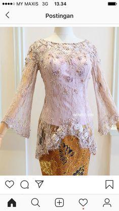 11 agst Source by brokat Kebaya Modern Hijab, Model Kebaya Modern, Kebaya Hijab, Kebaya Muslim, Kebaya Lace, Batik Kebaya, Batik Dress, Dress Muslim Modern, Muslim Dress