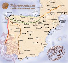 The Camino Portugues will be our next Camino in Spain. After we walked the Camino Frances we look forward to a different camino journey! Camino portugues - St jacobsroute / Santiago de Compostela-