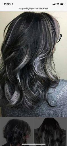 Dark Grey Hair Color, Grey Hair Dye, Hair Color Purple, Hair Color And Cut, Long Brown Hair, Long Layered Hair, Thick Hair, Love Hair, Gorgeous Hair