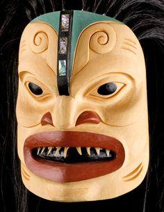 Pacific Shark Mask by Stan Bevan, Tahltan, Tlingit, Tsimshian artist (W40914)