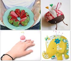 This is such a darling round up of 21 pincushion patterns to sew!  It's an amazing variety with wrist pincushions, to animal pin cushions, and even detachable sewing needle cushions.  These free pincushion patterns will come in handy around your sewing room and work as great gifts for sewing friends http://www.tipjunkie.com/pincushion/