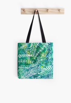 'Acvatic mood' Tote Bag by Diana T Poplin Fabric, Iphone Wallet, Watercolor Illustration, Cotton Tote Bags, My Works, Diana, Shopping Bag, Mood, Stuff To Buy