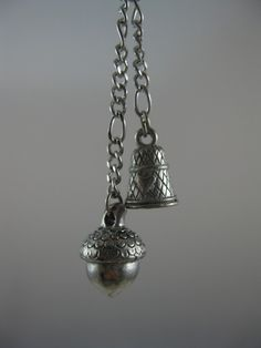 SALE Peter Pan Kisses Necklace with Acorn and Thimble by Annebien, $20.00