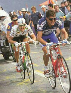Pedro Delgado,Charly Motet & Robert Millar - Tour de France 1989