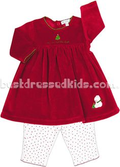 Newborn-Infant Baby's First Christmas Dress Set   Home  Holiday   Winter Holiday   Girls 9-24m Infant