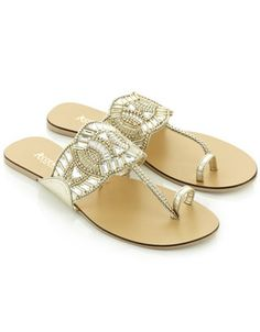Salinas Gem Sandals | Gold | Accessorize