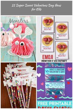 Valentines Day Ideas for Kids Pom Pom Valentine Monsters kids valentines 21 Super Sweet Valentines Day Ideas for Kids Rose Gold Hair, Valentines For Kids, Monsters, Sweet, Ideas, Candy, Thoughts