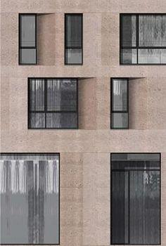 Exterior Building Facade Stones 41 Ideas For 2019 Brick Architecture, Minimalist Architecture, Architecture Details, Interior Architecture, Stone Facade, Brick Facade, Facade House, Facade Design, Exterior Design