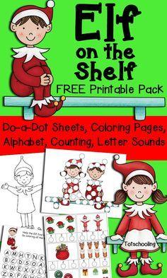 free christmas elfonashelf coloring page  christmas