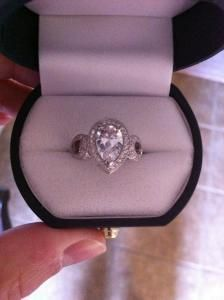MUST SELL!!! Gorgeous Custom Diamond / Platinum Engagement Ring   I Do Now I Don't