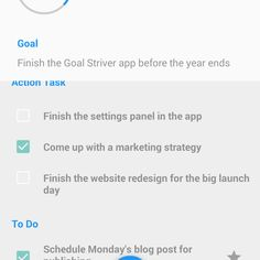 Take Actions by Action Tasks Feature in Goal Striver