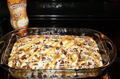 Better Than Sex Cake Recipe - delicious chocolate poke cake with whipped cream topping and topped with caramel and heath bar bits! Better Than Sex Cake Recipe, Better Than Anything Cake, Köstliche Desserts, Delicious Desserts, Yummy Food, Baking Recipes, Cake Recipes, Dessert Recipes, Cheesecakes