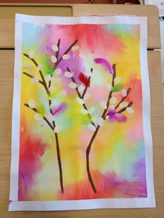 Pajunkissat Spring Art Projects, Spring Crafts, Kindergarten Art, Preschool Art, Fish Crafts, Flower Crafts, Easter Arts And Crafts, Montessori Art, Art Classroom