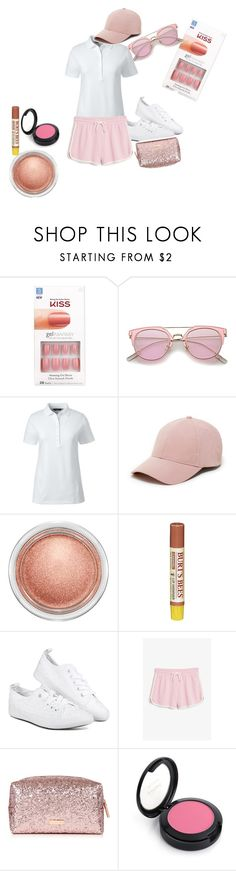 """""""Polo 9"""" by chocolatecandy05 ❤ liked on Polyvore featuring Kiss, Lands' End, Sole Society, MAC Cosmetics, Burt's Bees and Monki"""